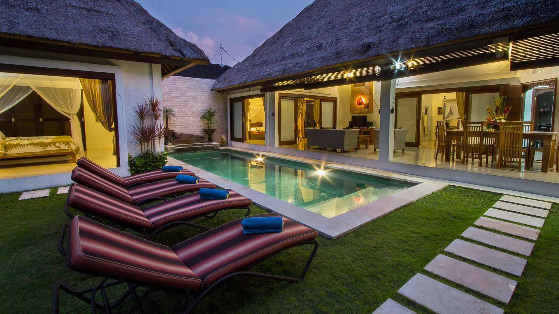 2 Bedroom simple villa located at Legian Kaja, nearby double six street Seminyak Bali.