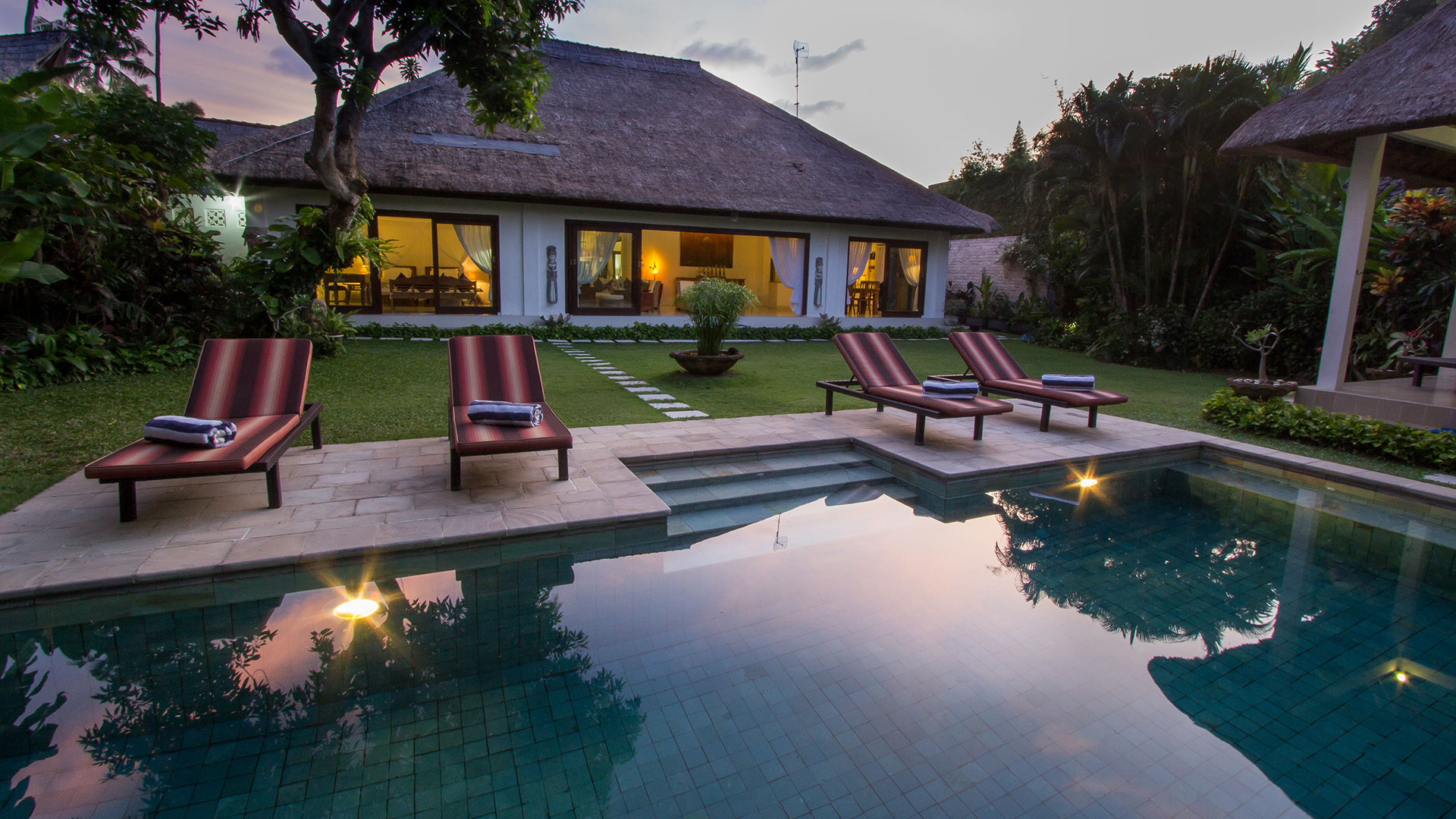 Villa Kamboja is a 3 bedroom private villa for family holiday, located in Double Six, Seminyak.