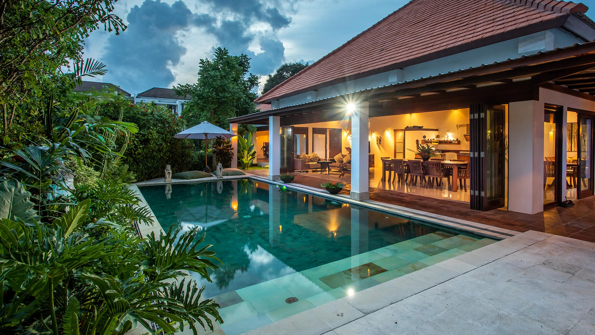 Villa Terisan is a private 4 bedroom villas located in Kerobokan, just 10 minutes drive from Seminyak. The villa has a huge area...
