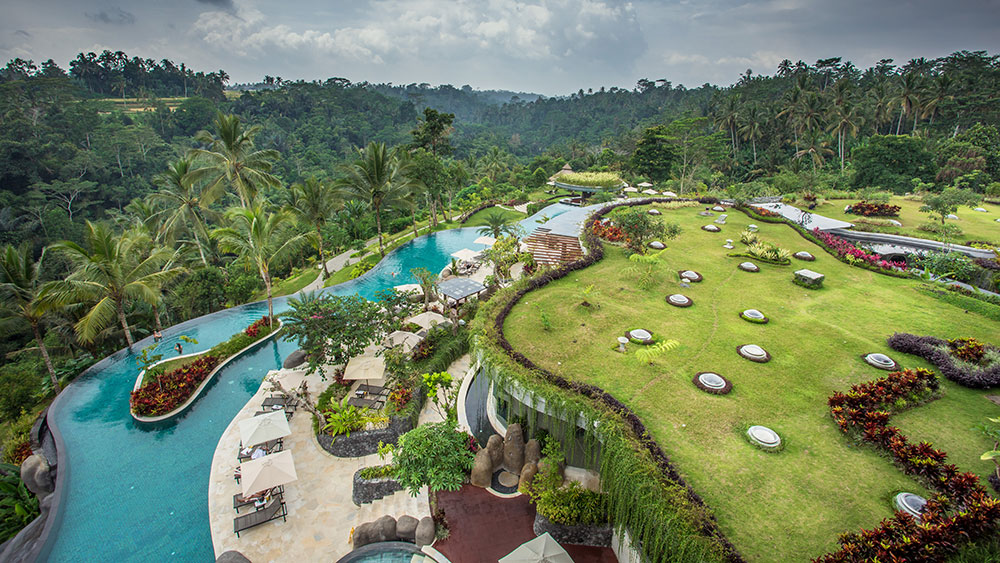 bali aerial property photo