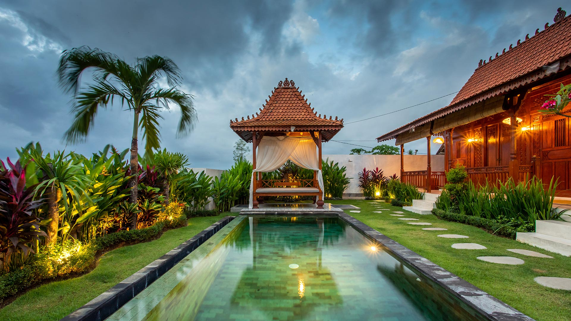 This 2 bedroom joglo styled villa is located in the middle of rice field in Seseh, Western Canggu. Villa Mayan Seseh...