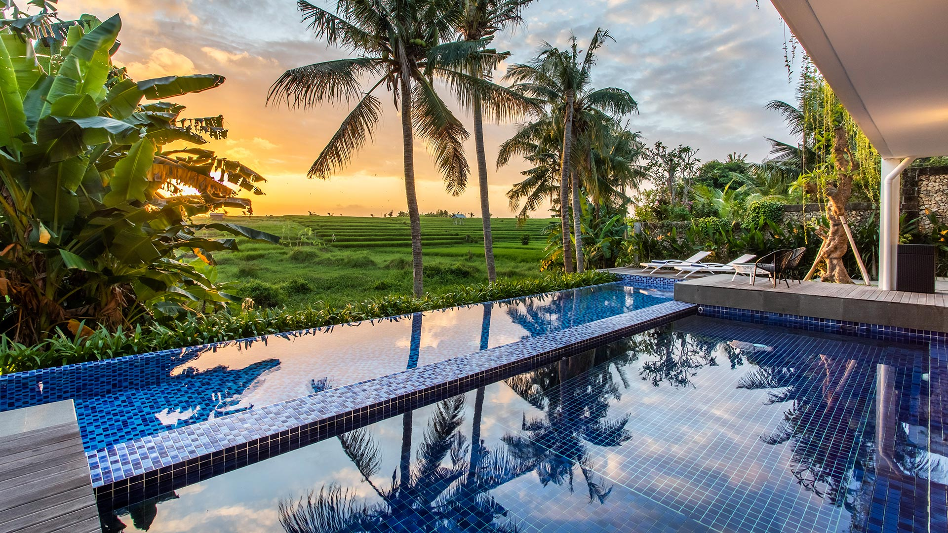Amantrana is a small but beautiful hotel situated in Babakan, Canggu. It has 10 luxury bedrooms with black and...