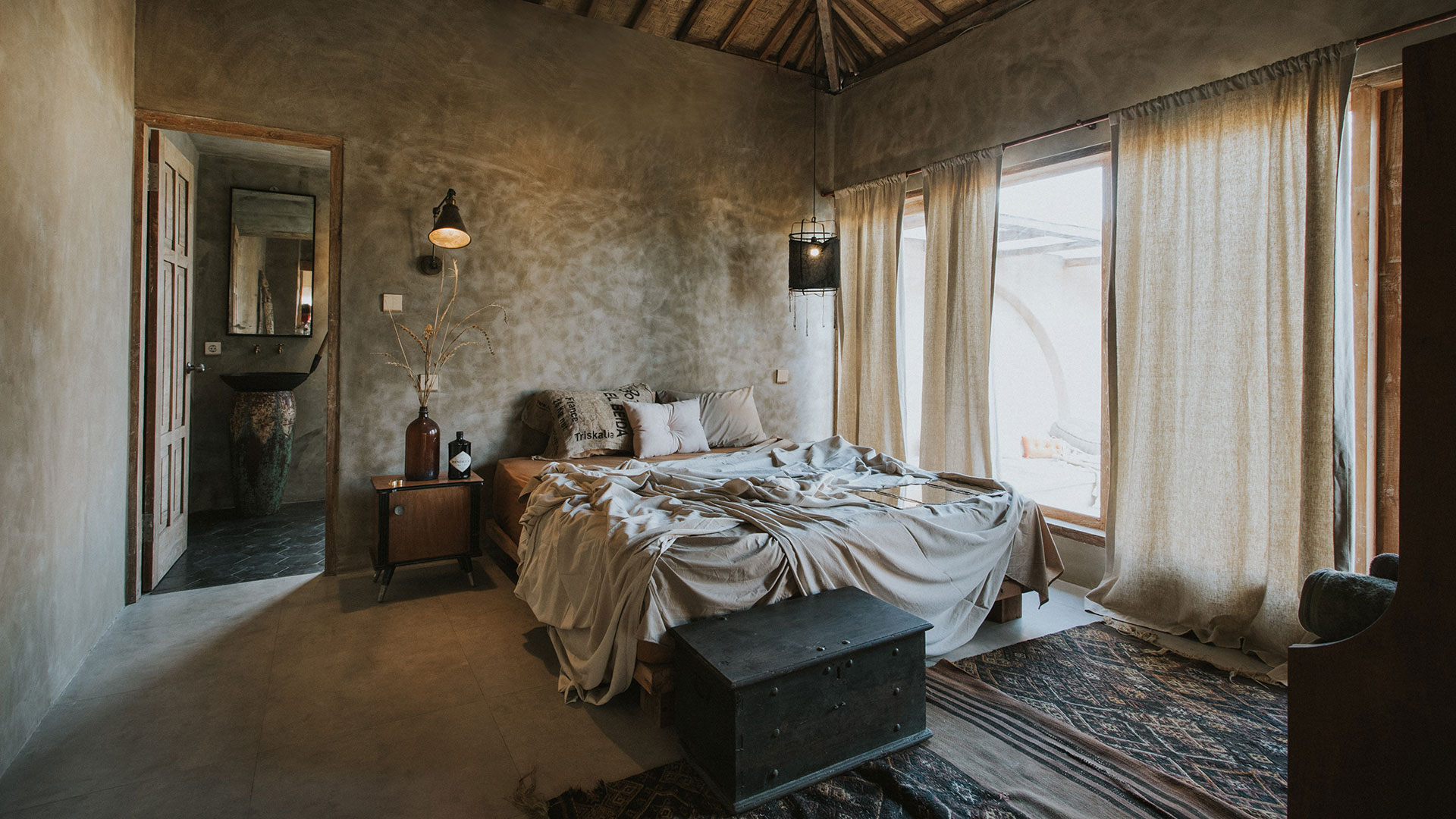 This is Tash's House 1, an amazing rustic style villa owned by a couple from England. Located in Canggu, this house consist of...