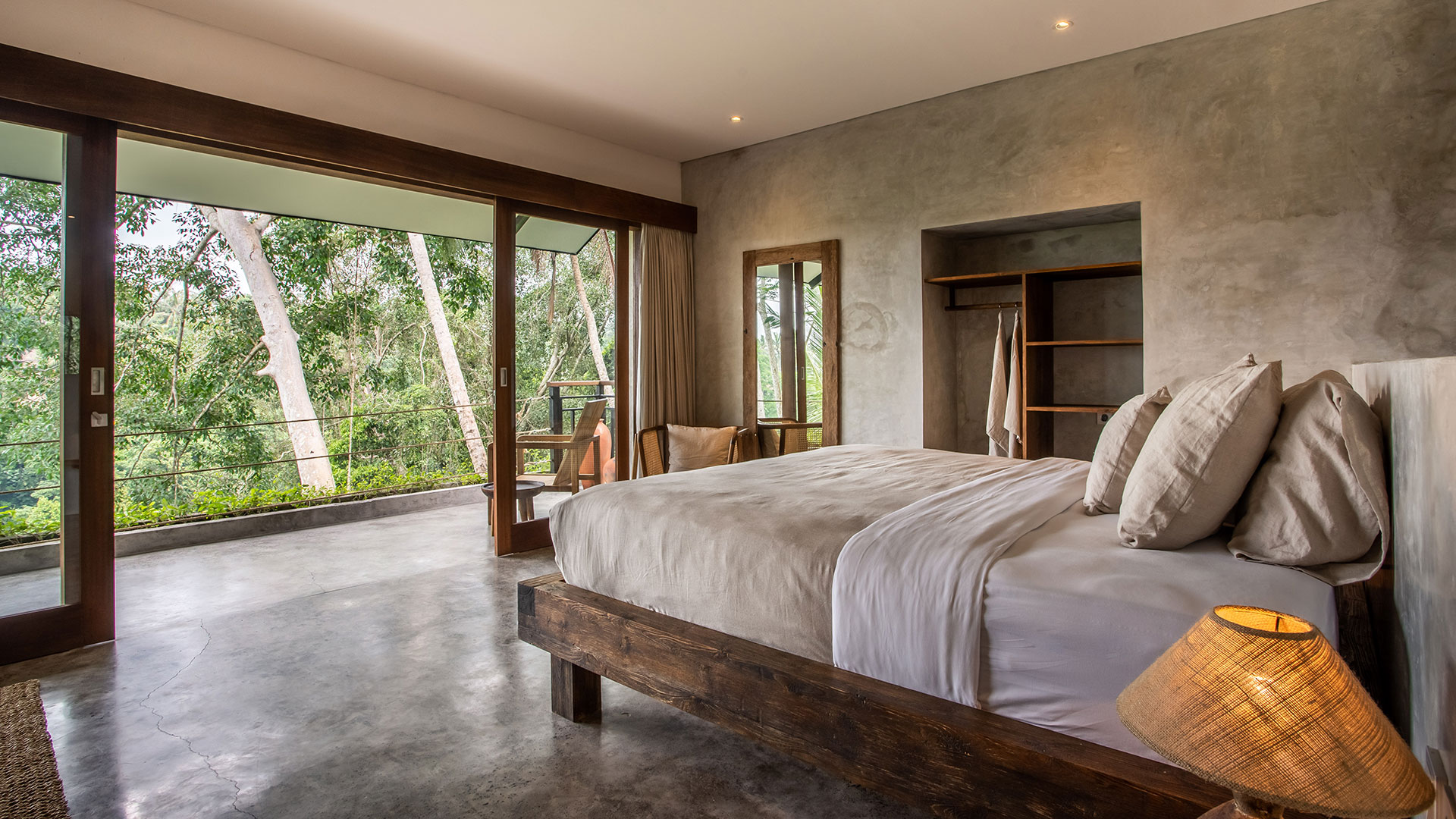 Just like its name, this villa is hiding inside a small alley in a very beautiful village on the outskirts of Ubud. Bedrooms and living room...